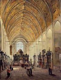 intérieur d'église gantoise by angelus de baets