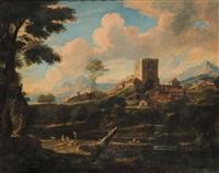 paesaggio con pastori by carlo antoniotavella