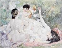 an arcadian scene by albert haueisen