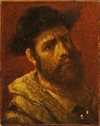 portrait d'un jeune juif portant son châle de prières by moritz gottlieb