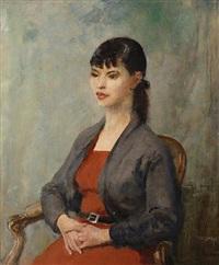 portrait of miss ruth smythson by walter ernest webster