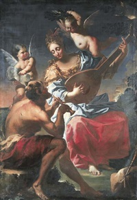 an allegory of music by francesco conti