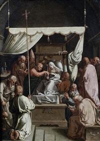 la dormition de la vierge by hendrik goltzius
