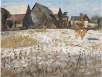 place farm, great bardfield by john arthur malcolm aldridge