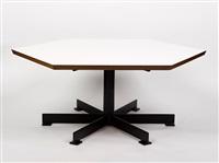 hexagonal coffee table by gordon andrews