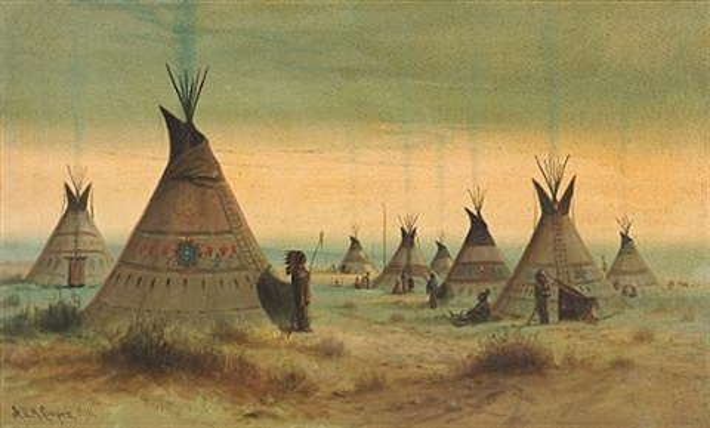 indian encampment by astley david middleton cooper