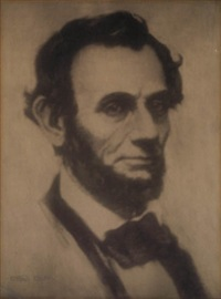 portrait of abraham lincoln by gertrude kasebier