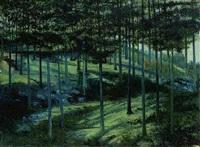 paisaje de noche by joaquín clausell