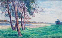 bords de loire à saint-ay by maximilien luce