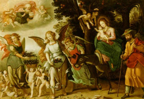 the flight into egypt by joos van winghe
