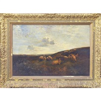 on the south downs by george vicat cole