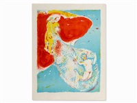 lithograph in colors, abdullah by marc chagall