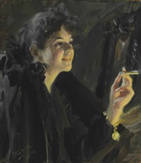 the cigarette girl by anders zorn
