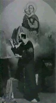 saint luc peignant le portrait de la vierge by jules claude ziegler