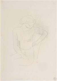 seated nude by karl hofer