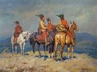 soldados a caballo by janos visky