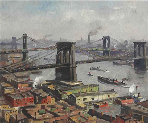 morning on the east river by guy carleton wiggins