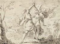 jacob wrestling with the angel by pietro antonio novelli