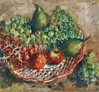 autumn still life with fruits by andor basch