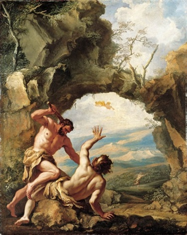 cain smiting abel with gods expulsion of cain from the garden of