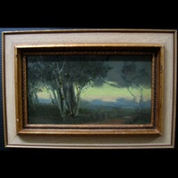 evening landscape study by mary augusta hiester reid