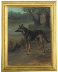 a german shepherd at guard by maud earl