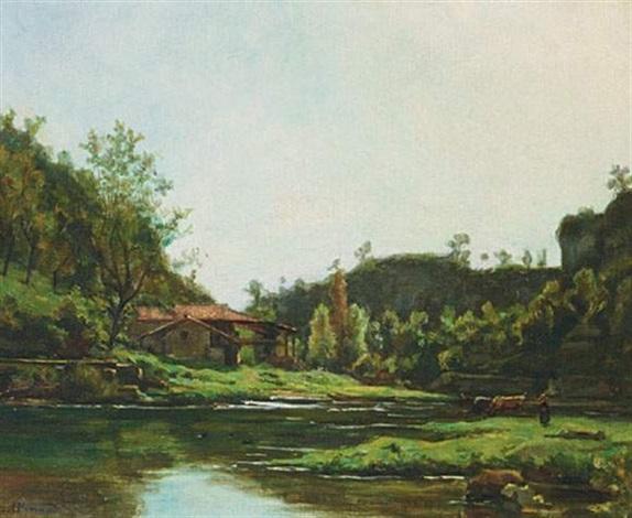 paysage de lisère près doptevoz by gustave allemand