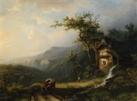 by the watermill by alexander joseph daiwaille