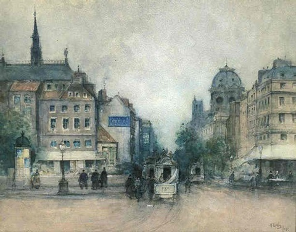 parisian street scene by james little