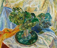 hydrangea and plate by grace cossington smith