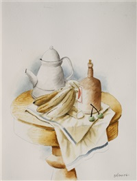 still life with bananas by fernando botero