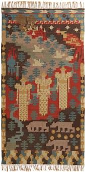 den røde hane tapestry by gerhard peter franz vilhelm munthe