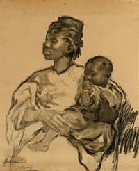 maternité à dakar by louis-ferdinand antoni