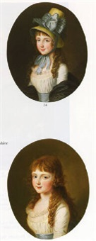 portraits of charlotte and frances ram by ludwig guttenbrunn