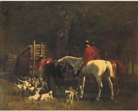 huntsmen with hounds by carl rudolph huber