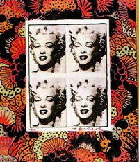 marilyn monroe with strawberries by pietro psaier and andy warhol