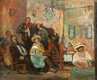 cafe scene by avraham naton