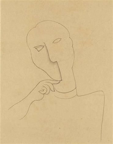 portrait arabesque by roger de la fresnaye
