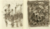 untitled (2 works)(studies) by roger kemp