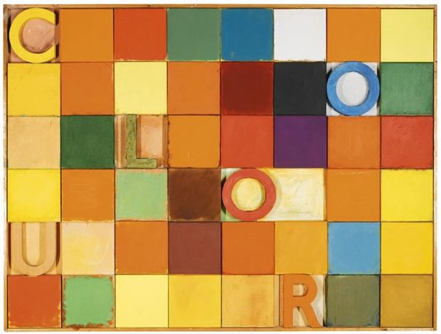 colour chart by joe tilson