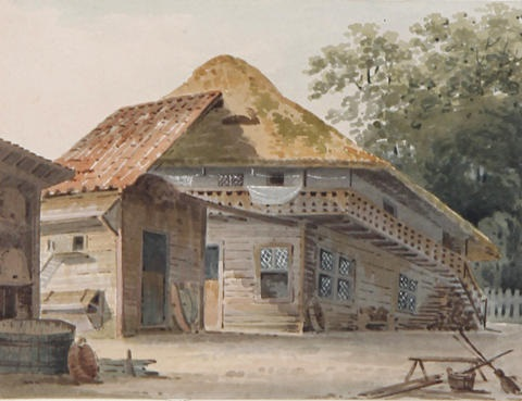 house in china by george chinnery