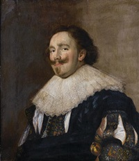portrait of a bearded gentleman by haarlem school