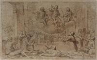 dieu intervient pour sauver une ville frappée par la peste by giovanni battista paggi