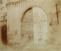 entrance gate, abbotsford by william henry fox talbot