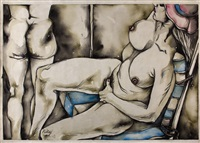 erotic scene by ronald brooks kitaj
