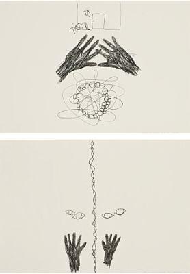 hypnosetegninger (in 2 parts) by ann lislegaard