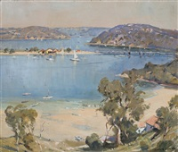 spit bridge, middle harbour from mosman by james ranalph jackson