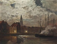 amsterdam by moonlight by c. f. ahl