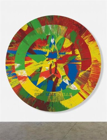 beautiful strummerville spin the future is unwritten painting by damien hirst