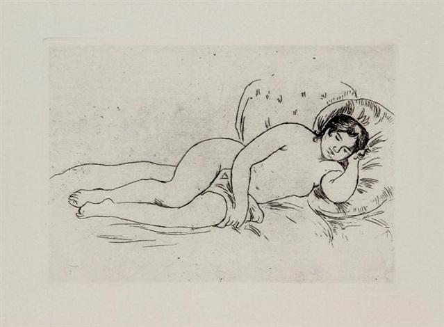reclining nude by pierre auguste renoir